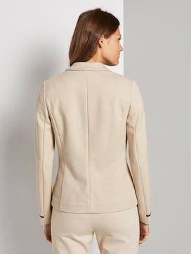 Jersey Blazer met rib inzetstukken - 2 - TOM TAILOR