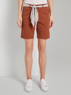 Chino Relaxed Bermuda-Shorts mit Bindegürtel - 1 - TOM TAILOR