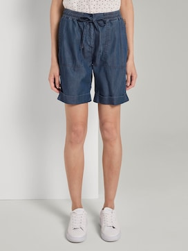 Loose-fit Bermuda shorts with an adjustable waistband - 1 - TOM TAILOR