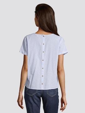 Gestreepte blouse met korte mouwen en knoopsluiting aan de achterkant - 2 - TOM TAILOR Denim