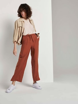 Loose-fit linen-blend trousers - 3 - TOM TAILOR