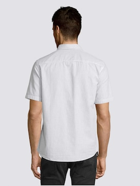 Gestreiftes Kurzarm-Hemd mit Brusttasche - 2 - TOM TAILOR