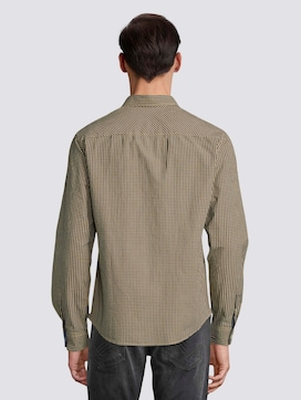 Fine checked shirt with a chest pocket - 2 - TOM TAILOR