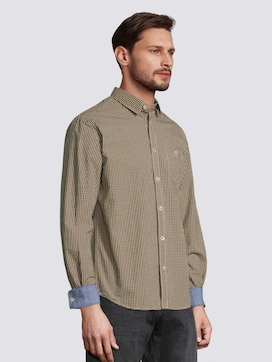 Fine checked shirt with a chest pocket - 5 - TOM TAILOR