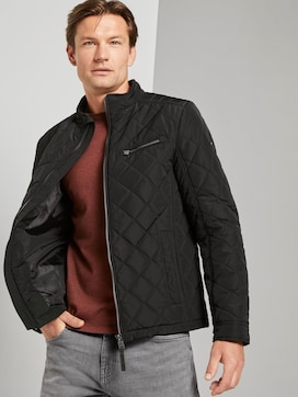 Quilted biker jacket with a stand-up collar - 5 - TOM TAILOR