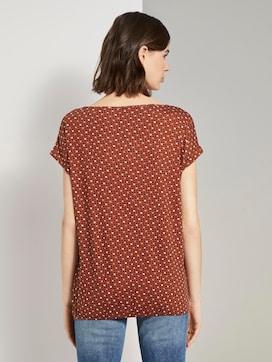 T-Shirt im Allover-Print mit elastischem Bund - 2 - TOM TAILOR