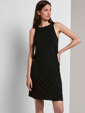 Sleeveless halter dress with a print - 5 - TOM TAILOR