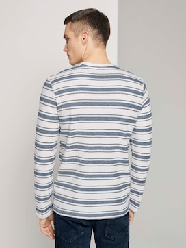 Striped long-sleeved top with texture - 2 - TOM TAILOR