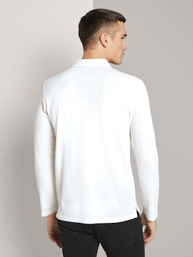 Long-sleeved polo shirt made with organic cotton  - 2 - TOM TAILOR