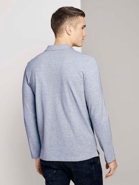 Poloshirt met lange mouwen met biologisch katoen  - 2 - TOM TAILOR