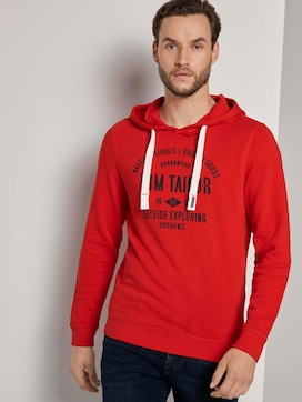 Hoodie with a logo print - 5 - TOM TAILOR