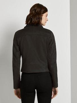 Suede biker jacket with a teddy collar - 2 - TOM TAILOR Denim