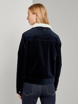 Lined corduroy jacket with fur collar - 2 - TOM TAILOR Denim