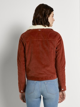 Gevoerde corduroy jas met bontkraag - 2 - TOM TAILOR Denim
