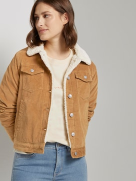 Lined corduroy jacket with fur collar - 5 - TOM TAILOR Denim