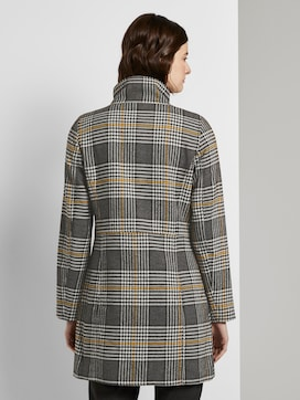 Checked coat with a stand-up collar - 2 - TOM TAILOR Denim