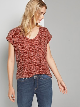 Gedessineerde Tuniek Blouse met korte mouwen - 5 - TOM TAILOR Denim