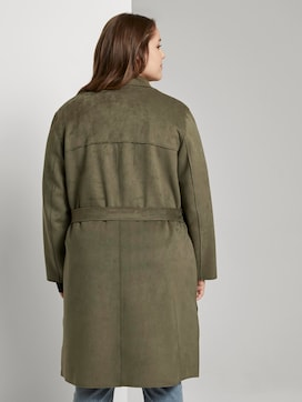 Trench coat in a velour look - 2 - My True Me