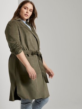 Trench coat in a velour look - 5 - My True Me