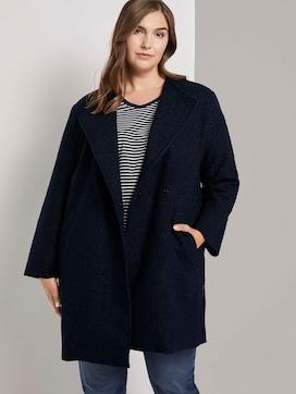 Bouclé jas met dubbele rij knopen - 5 - Tom Tailor E-Shop Kollektion