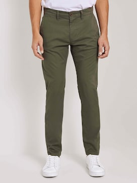 Travis slim chino trousers in a washed look - 1 - TOM TAILOR