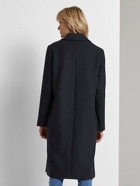 Classic wool coat with side slits - 2 - Mine to five