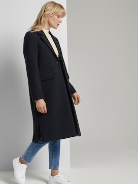 Classic wool coat with side slits - 5 - Mine to five