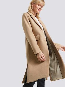 Klassieke wollen jas met zijsplitten - 5 - Tom Tailor E-Shop Kollektion