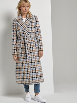 Wool coat with a houndstooth pattern - 5 - Mine to five