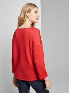 Meliertes Sweatshirt mit 3/4-Arm - 2 - TOM TAILOR