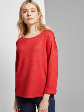 Meliertes Sweatshirt mit 3/4-Arm - 5 - TOM TAILOR