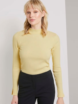 Ribbed long-sleeved top with a stand-up collar - 5 - Tom Tailor E-Shop Kollektion