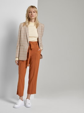 Relaxed Rechte Broek met Knoopriem - 3 - Tom Tailor E-Shop Kollektion