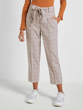 Relaxed straight trousers with a tie belt - 1 - Mine to five