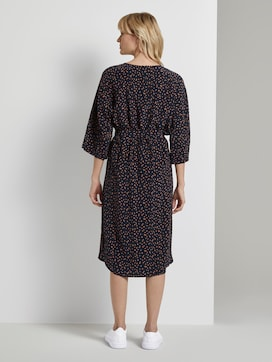 Patterned midi dress with bat sleeves - 2 - Tom Tailor E-Shop Kollektion