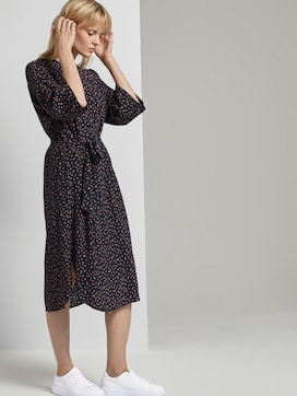 Patterned midi dress with bat sleeves - 5 - Tom Tailor E-Shop Kollektion