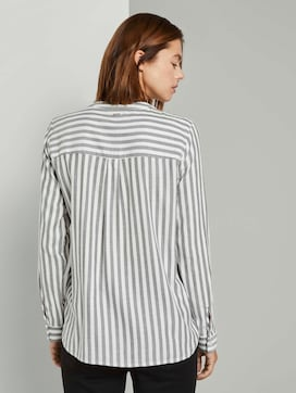 Striped shirt blouse with chest pockets - 2 - TOM TAILOR Denim