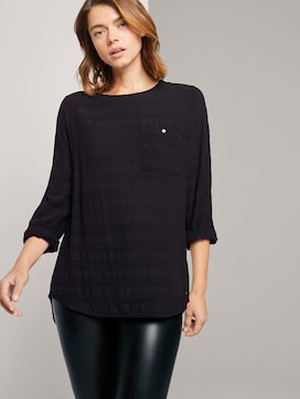 Tunic blouse with a chest pocket - 5 - TOM TAILOR Denim