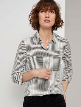 Striped shirt blouse - 5 - TOM TAILOR