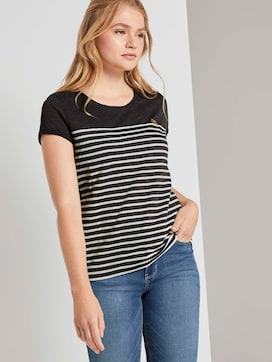 Gestreept T-shirt met klein borduursel - 5 - TOM TAILOR Denim