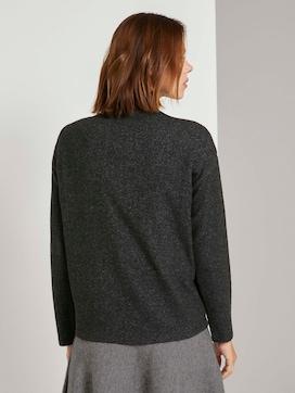 Meliertes Sweatshirt mit Stehkragen - 2 - TOM TAILOR Denim