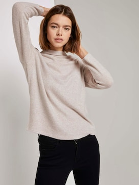 Gevlekt sweatshirt met opstaande kraag - 5 - TOM TAILOR Denim