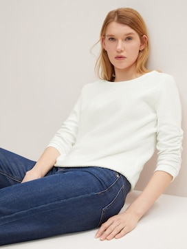 Strukturiertes Sweatshirt - 5 - TOM TAILOR Denim