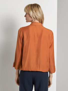 Wickelbluse mit Elastikdetail - 2 - Mine to five