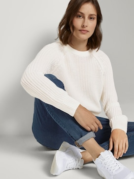 Basic Pullover mit Raglan-Ärmeln - 5 - TOM TAILOR Denim