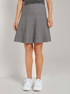Knitted mini skater skirt - 1 - TOM TAILOR Denim