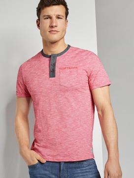 Gestreiftes Henley-T-Shirt mit Brusttasche - 5 - TOM TAILOR