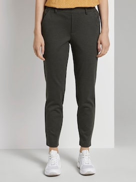 Relaxed-fit trousers with an elastic waistband - 1 - TOM TAILOR Denim