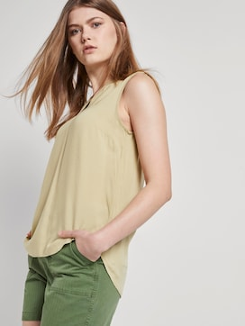 Sleeveless tunic with a Henley neckline - 5 - TOM TAILOR Denim