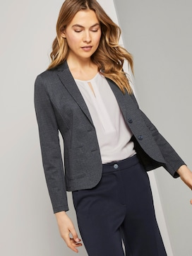 Slim Fit Blazer mit Hahnentritt-Muster - 5 - TOM TAILOR